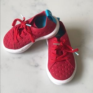 Native red sneakers - toddler size 6